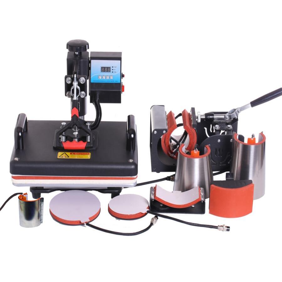 9 In 1 Warmte Persmachine, Sublimatie Printer/Warmteoverdracht Machine, warmte Pers Voor Mok/Cap/t shirt/Telefoon case etc, nieuwe ontwerp
