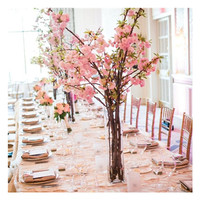 Length 83cm Cherry Blossom Peach Flower Artificial Wedding Flower Party Event Fake Flower Cherry Pink Flower