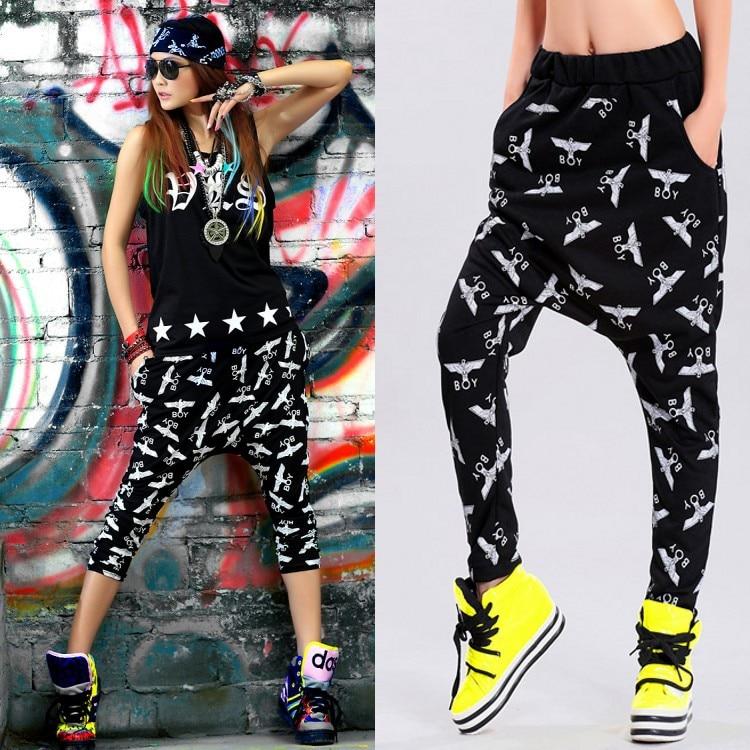 new 2015 brand harem pants women loose casual pants boy london printed hip hop dance wear