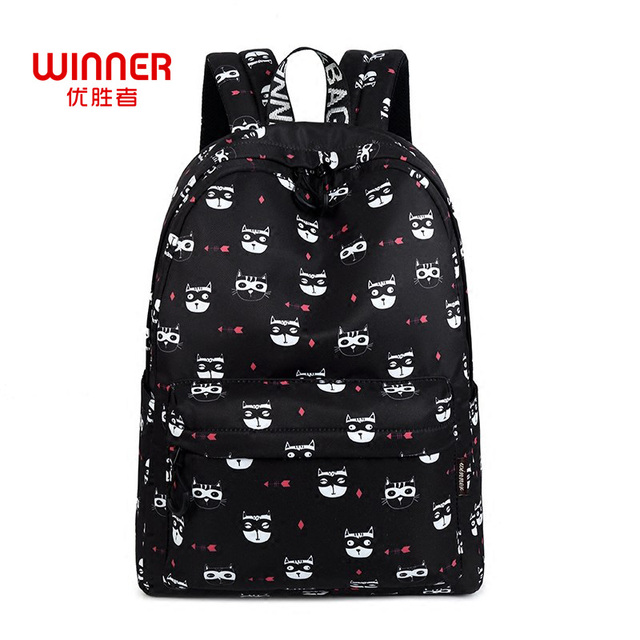 803d39a5d6fc WINNER Cute Cat Backpack Women Cartoon Backpacks For Teenage Girls School  Bag Preppy Style Travel Rucksack
