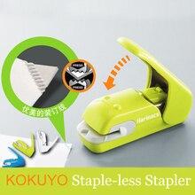 Japan KOKUYO grapas para estudiantes, grapas, prensa Harinacs, papelería creativa y segura