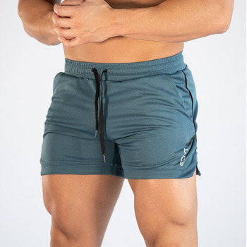 2019 Men Fitness Bodybuilding Shorts Man Summer Gyms Workout Male Breathable Mesh Quick Dry Sportswear Jogger Beach Short Pants 1