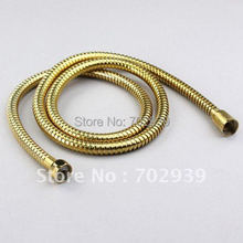 Free shipping FLEXIBLE SHOWER HOSE ALL METAL 150CM PVD gold hose