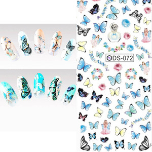 Image 5 - 1 PCS Water Decals Nails Sticker On Nails Harajuku Element Cats Kitty Nail Art Stickers Sliders For Nails Sticker Art ZJT024