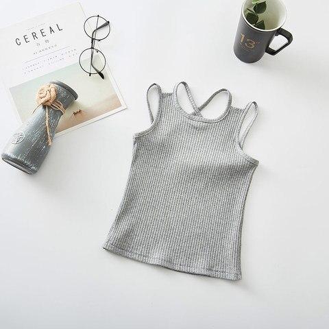 Girls Shirts Cotton Girl Underwear Hallowout Tops For Kids Singlets Summer Children Undershirts Baby Tees Multan
