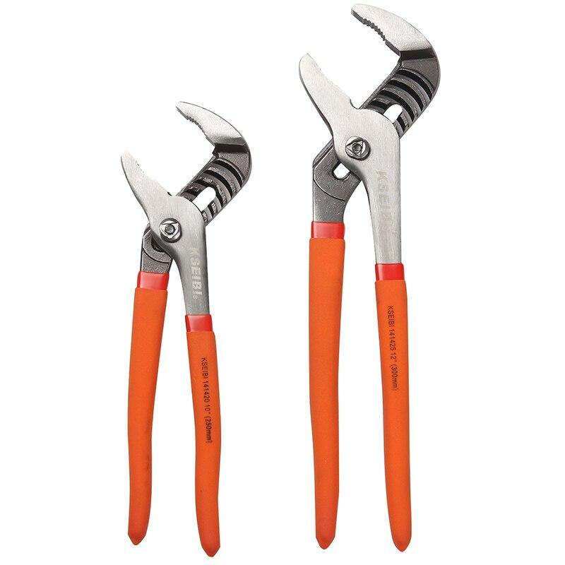 KSEIBI 141422 Pompe À Eau Pinces 10 pouce et 12 pouce 2 pack Angle Nez Joint Coulissant Tuyau Clé Avec PVC non-Slip Poignée