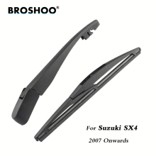 цена на BROSHOO Car Rear Wiper Blades Back Windscreen Wiper Arm For Suzuki SX4 Hatchback (2007 Onwards) 255mm,Windshield Car Styling