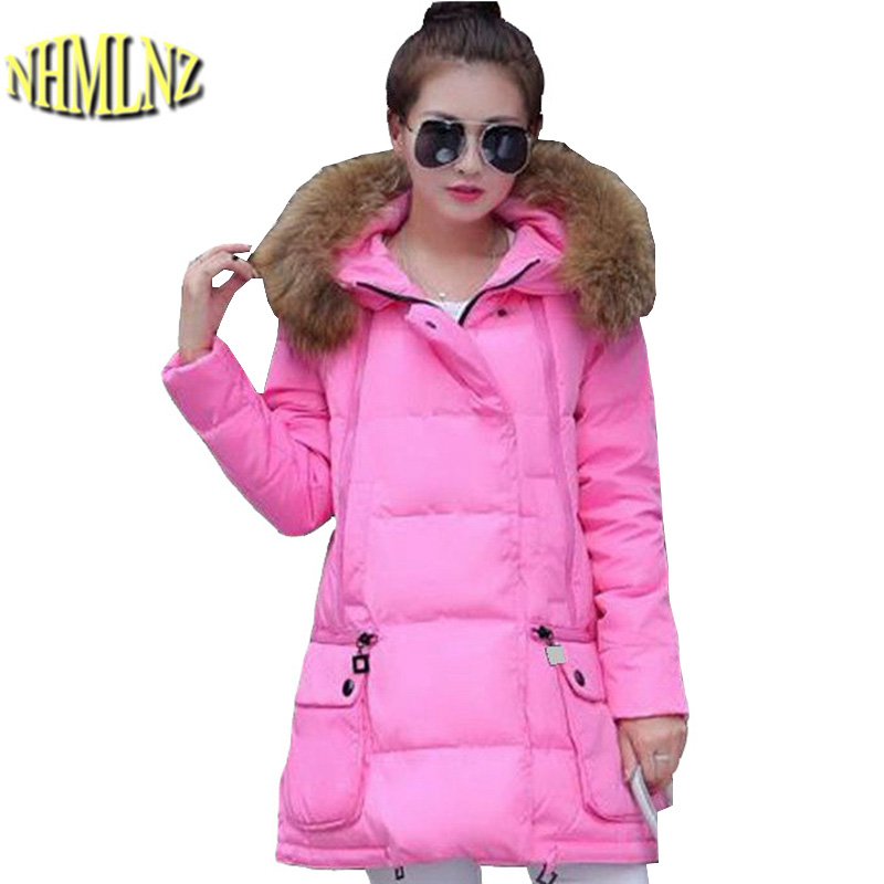 Winter Cotton-padded clothes New Style Women Down jacket Collars Hooded Jacket Thick Warm cotton Coat Loose Big yards Coat G2697 women winter coat leisure big yards hooded fur collar jacket thick warm cotton parkas new style female students overcoat ok238