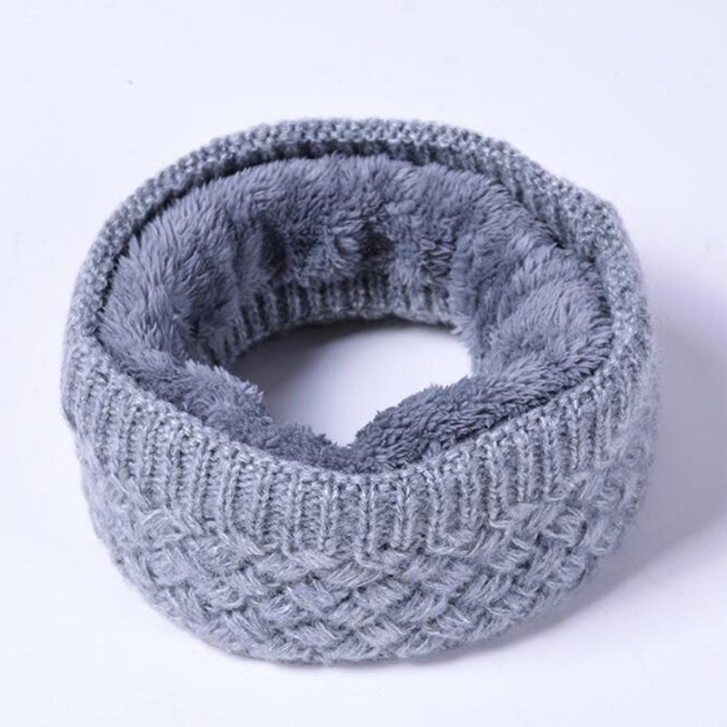 Fashion Women And Men Scarves Autumn And Winter Knitting Yarn Collar Vertical Stripes Solid Color And Velvet Scarf Keep Warm