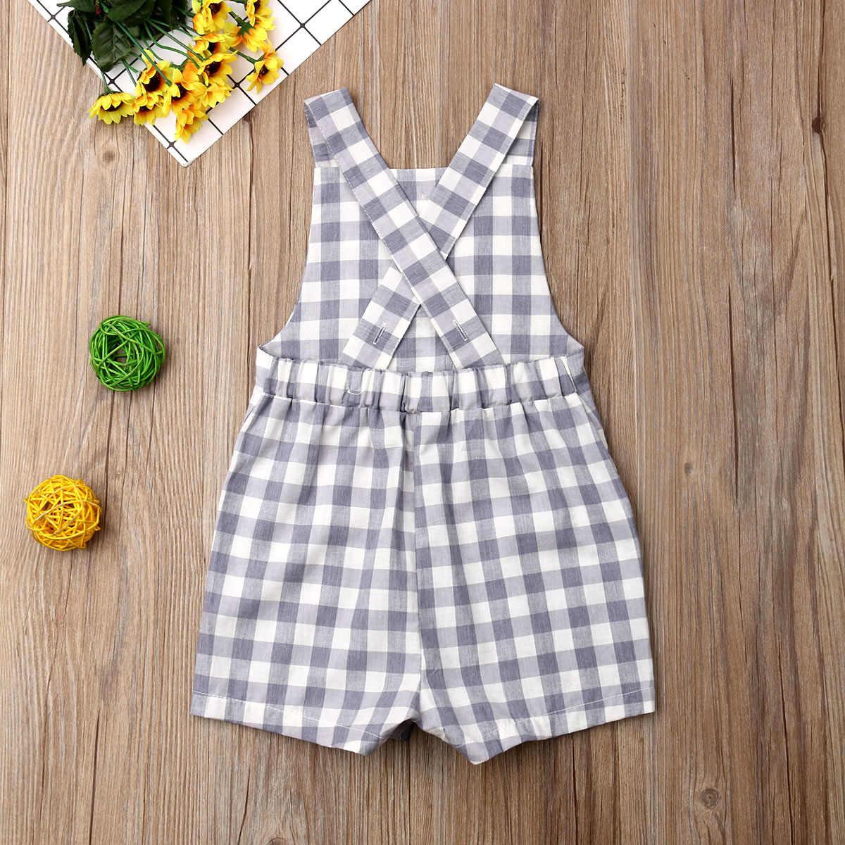 Мода 2019, летние комбинезоны для новорожденных девочек и мальчиков, комбинезон без рукавов с пуговицами, одежда, наряды