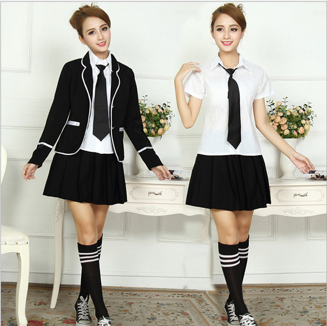 Anime British Korean Japanese Girls High School Uniform -3627