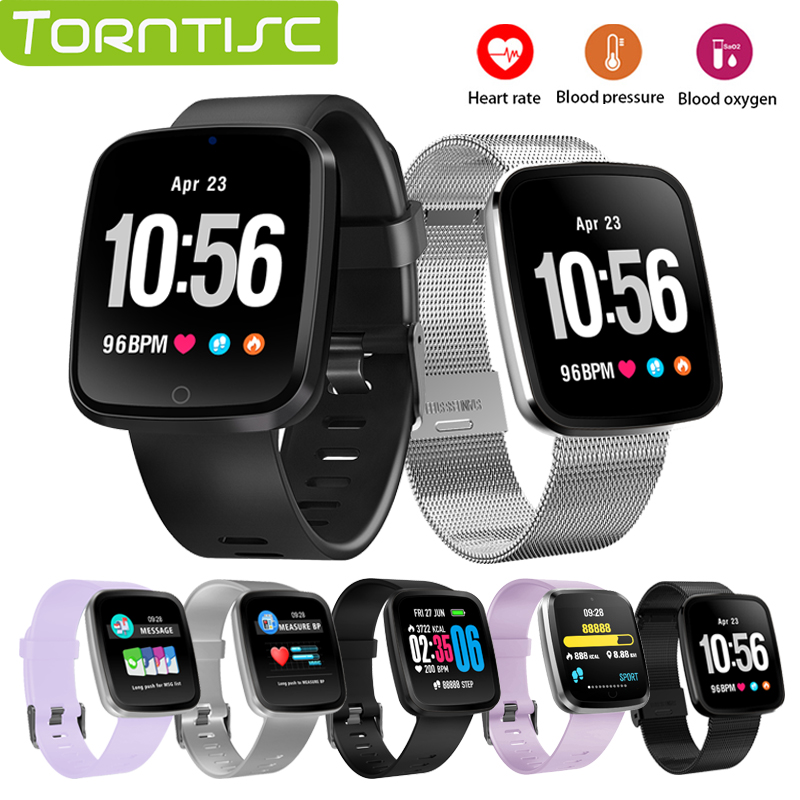 TORNTISC V6 Fitness Bracelet Color screen Waterproof Heart Rate Smart Band Blood pressure oxygen monitor Smartwatch PK mi band 3 Браслет