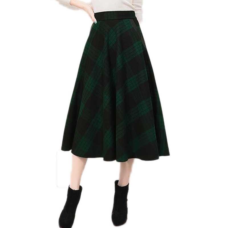 Brilliant Winter Plaid Skirt Fashion Women Pleated Skirt High Waist Short Skirt