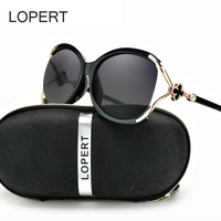LOPERT Ladies Polarized Cat Eye Sunglasses Women Luxury Brand Driving Glasses Female Retro Fashion Style Sun