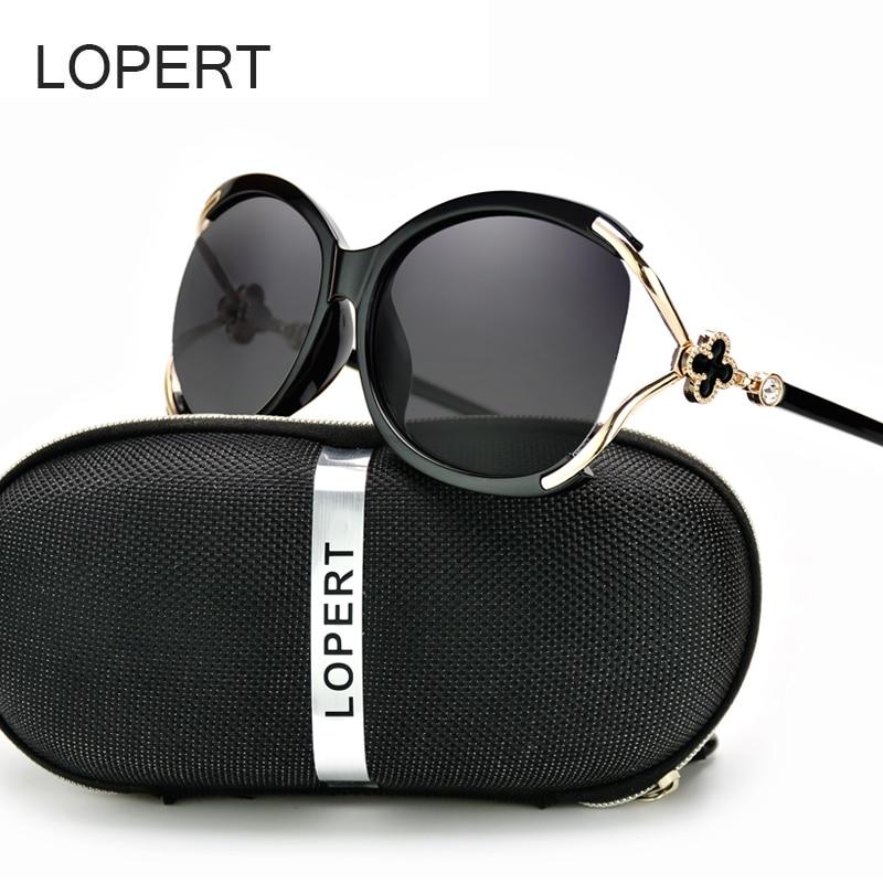 LOPERT Ladies Polarized Cat Eye Sunglasses Women Luxury Brand Driving Glasses Female Retro Fashion Style Sun Glass De Sol UV400