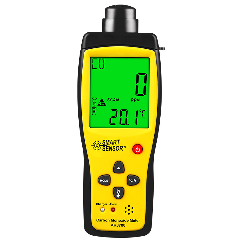 Flight Tracker Carbon Monoxide Gas Detector, Sigma As8700a Portable Industrial Household Co Gas Detector, Alarm.