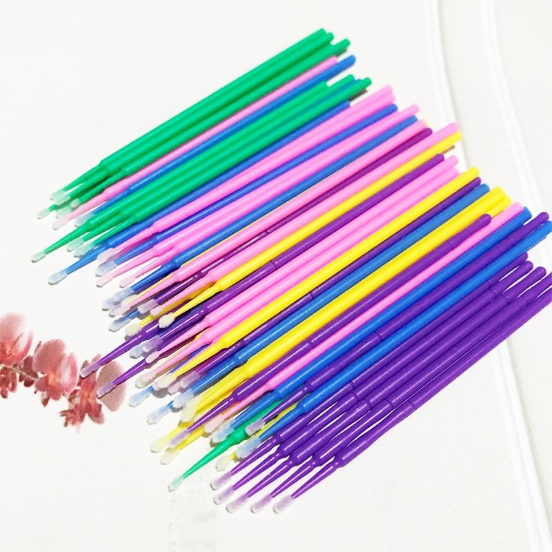 MIKIWI 100pcs/lot Durable Micro Disposable Eyelash Extension Individual Applicators Mascara Brush For Women Wholesale