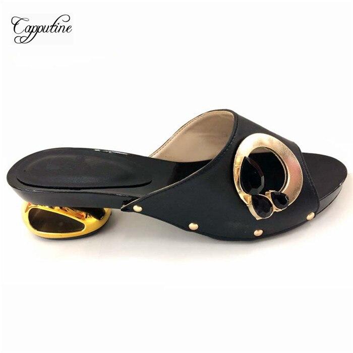 Mode noir Taille Le Talon 5 White on 911 Pour rouge Pompes Sandale Chaussures 44 Pierres 37 Cm Avec 1 Populaire partie Royal 6 Slip bleu Des Rouge Hauteur vert or Mariage w4aqPx4I1