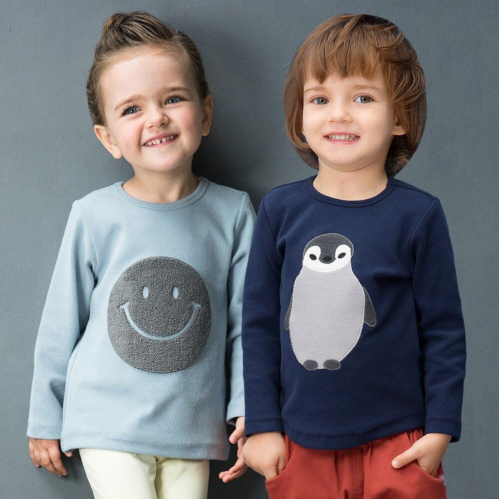 YINGZIFANG nuovo autunno dei ragazzi delle ragazze T-Shirt A Manica Lunga Unisex Vestiti del Bambino Casual infantile del bambino del Cotone della ragazza del ragazzo Dei Capretti Dei Bambini Magliette