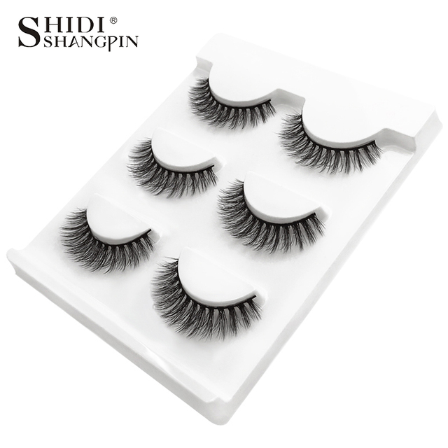 SHIDISHANGPIN 3 pairs mink eyelashes natural false lashes wispy 3d mink lashes makeup false eyelashes eyelash extension lashes 2
