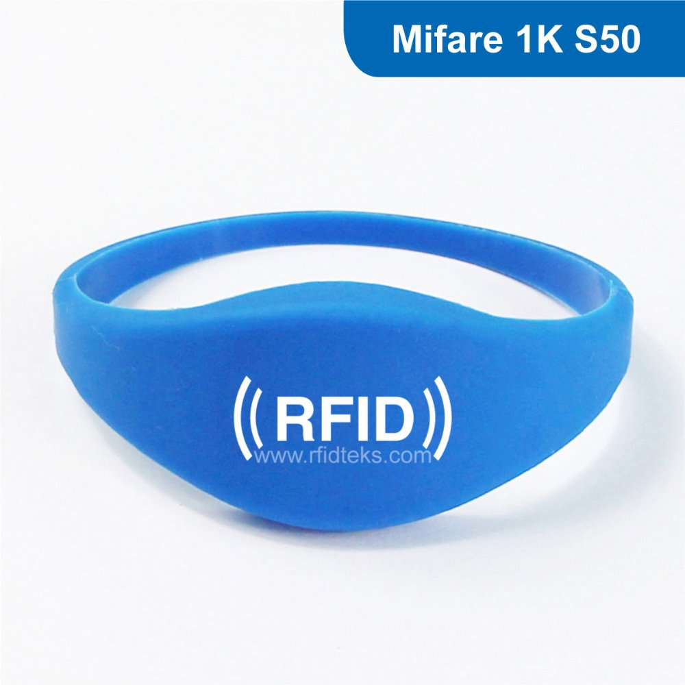 Silicone rfid bracelet wristband with MF1 S50 chip Free Shipping