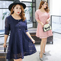 Plus Size Lace Dress Pink Green Party Lolita Womens Dresses Korean Vestidos Big Size Dress  Robe Femme 4XL 0282-26