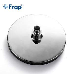 Image 4 - Frap Modern Round 20*20cm Stainless Steel ABS Bathroom Shower Head 8 inch toilet Rainfall Shower Head Rain Shower Chrome Finish