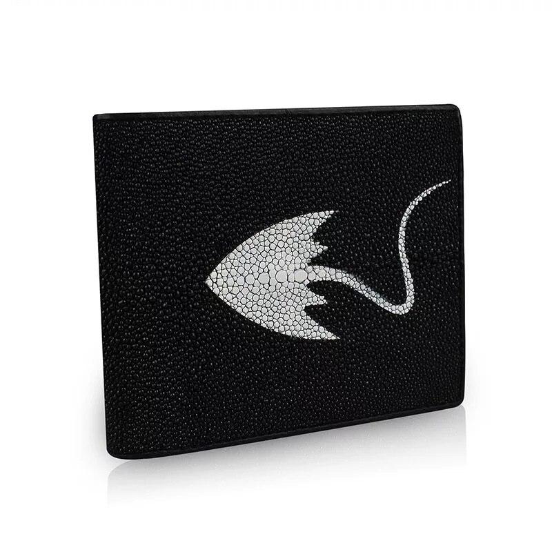100 Genuine Stingray Skin Leather Women Men Short Clutch Wallet Exotic Skate Skin Unisex Style Female