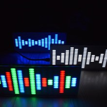 New Arrival DIY Big Size Touch Control 225 Segment LED Digital Equalizer Music Spectrum Sound Waves Kit