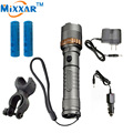 zk30 LED Bike Flashlight 4000LM Outdoo Torch Self Defense Cree XM-L T6 Rechargeable Tacticallamp Cycling 2*18650 Battery