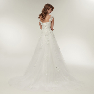 Image 3 - Fansmile Tulle Mariage Vestidos de Novia Embroidery Lace Mermaid Wedding Dress 2020 Bridal Gowns Plus Size Customized FSM 138M