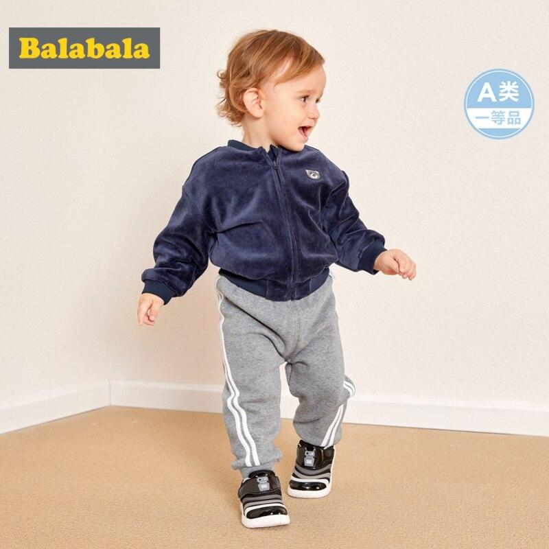 Hosen Schnelle Lieferung Balabala Infant Baby Junge Mädchen Fleece-gefüttert Sport Pull-auf Jogger Neugeborenen Baby Seite-gestreiften Jogginghose Hosen Ribbing Am Saum Feine Verarbeitung