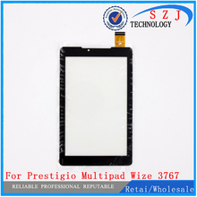 Nieuwe 7 inch Voor Prestigio MultiPad Wize 3767 3757 3787 3G Tablet touch screen digitizer glas Panel Sensor gratis Verzending(China)