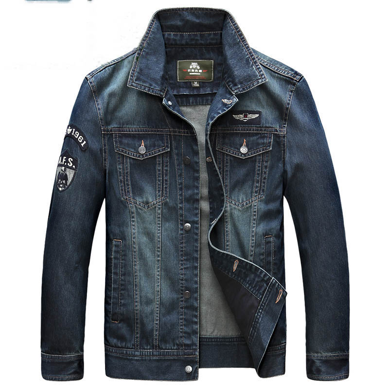 2016 Brand clothing Spring & Autumn men denim jacket letter embroidery jackets and coats hip hop fashion jeans jacket men casaco image