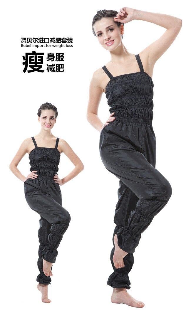 af4e1ce741 Mujeres aerobic ropa pérdida de peso traje adelgazamiento Fitness pantalones  Sauna traje mujer Sauna pantalones Sportwear pantalón MLXL2XL3XL en  Pantalones ...