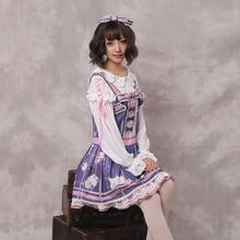 Sweet Lolita Victorian Dress Long Sleeves Printing Kawaii Loli Christmas Halloween Costumes For Women Tea Party Plus Size