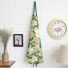 modern Countryside style Pure cotton thickening apron double pocket live with own family Fabric art Kitchen necessary