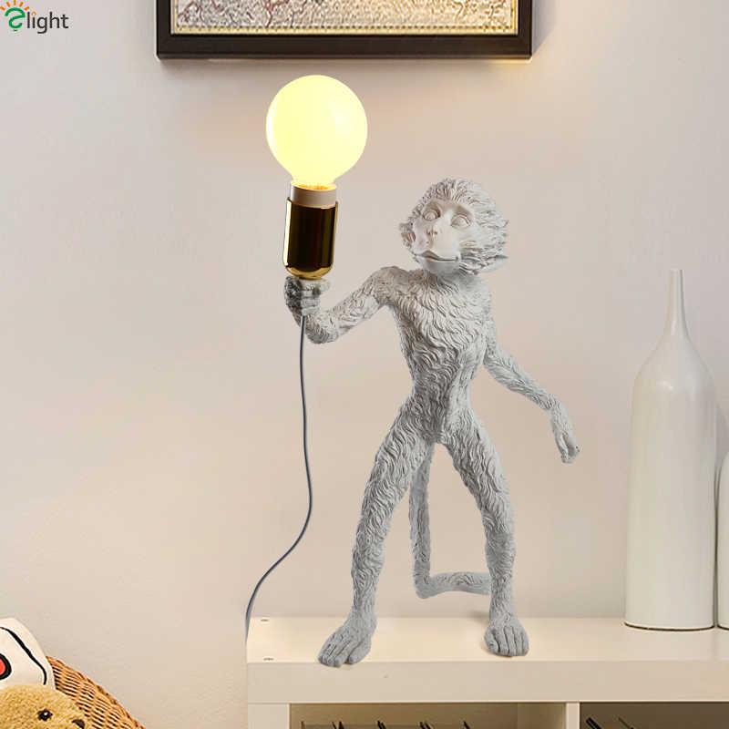 Современная Новинка обезьяна Светодиодная настенная лампа гостиная смола светодиодные настенные бра для спальни светодиодные Настенные светильники Лофт настенное бра для коридора