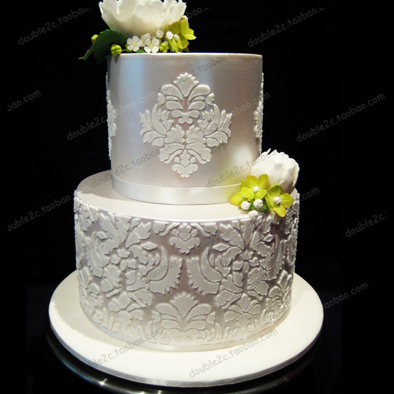 Decorative Ready Made Edible Cake Lace Wedding Decoration