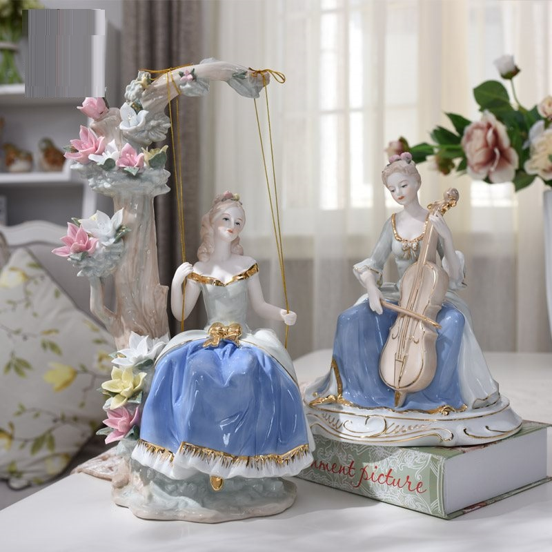 Western Female Statue Beauty Ceramic Figurines Sculpture Porcelain Art&Craft Bar Cafe Home Interior Design Gifts L3238Western Female Statue Beauty Ceramic Figurines Sculpture Porcelain Art&Craft Bar Cafe Home Interior Design Gifts L3238