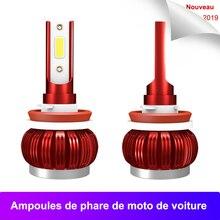 8000LM 35W LED H4 H7 Car Light Bulbs H1 9005 9006 H11 Headlight Bulb 6000k Cars COB Chip Ampoules de phare voiture