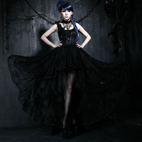 Новый панк готический платье Винтаж в викторианском стиле пикантные Женские Нейлон корсет S 3XL Q174