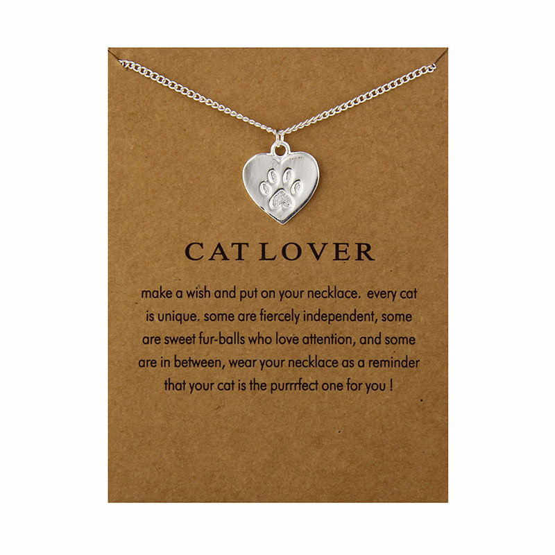 Bộ Trang Sức Thời Trang Nhắc Nhở Người Yêu Mèo Tình Bạn Charm Trái Tim Vòng Đeo Cổ Cho Nữ