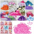 1/6 Doll Accessories 30 Pcs= 10 Dresses + 10 Shoes + 10 Hangers Party Gown Wedding Dress Clothes For Barbies Girl Christmas Gift