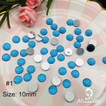 100pc 10mm płaskie okrągły diament kryształy kamień naklejki klejnot kreatywny DIY handmade rzemiosło artystyczne Scrapbooking kryształy tanie i dobre opinie 19052701 Acrylic