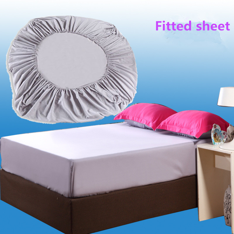 Solid color brushed microfiber fabric polyester mattress How to put a fitted sheet on a bed