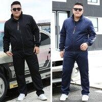 Men Tracksuit Sportswear plus size 7xl 8xl 9xl Men Sweatshirt Sweatpants High Street Men Tracksuits Autumn pants joggers