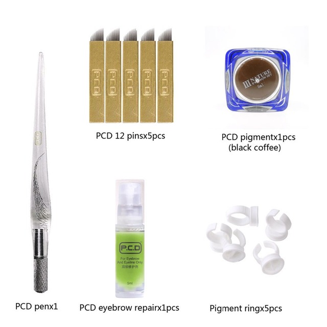 Microblading Semi-Permanent 3D Makeup Eyebrow Tattoo Needle Pen Pigment Kit/set