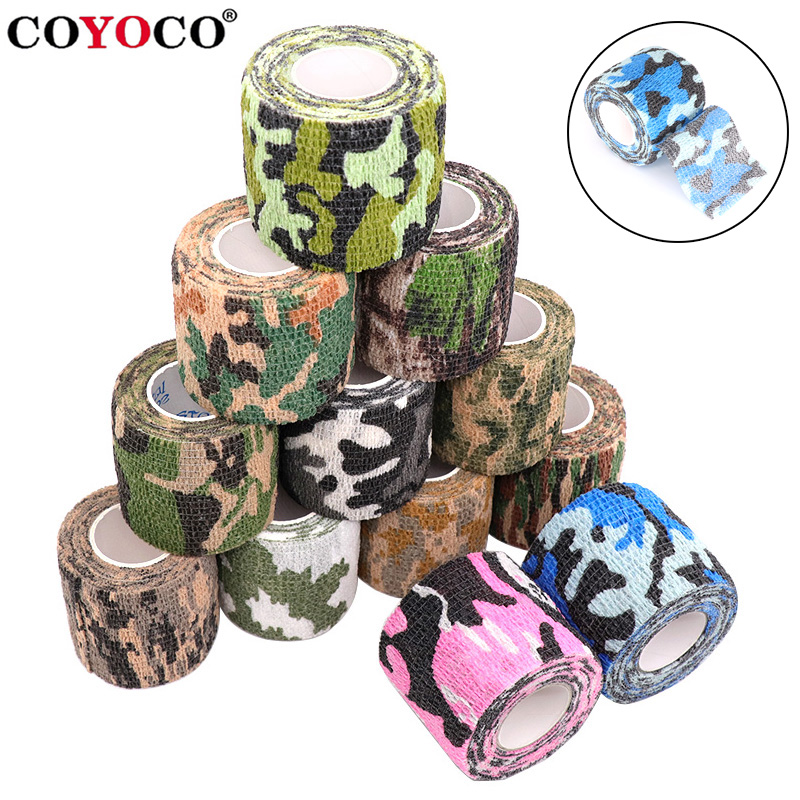 2.2 Times Elastic Camouflage Elastoplast Disguise Elastic Bandage Self Adhesive Wrap Hunting Hunt 4.5m Sports Protector Support