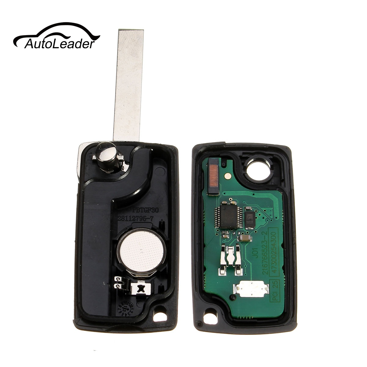 For VW Peugeot 207 307 308 407 607 3 Button Car Keyless Entry Case Alarm Flip Folding Remote Key 433MHz with ID46 chip VA2 Blade replacement folding key case shell for vw golf 7 no chip for volkswagen remote keyless shell auto parts key case with blade